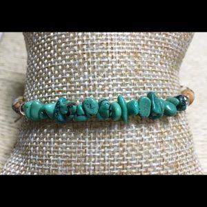 NIB AMERICAN WEST Turquoise Wrap Bracelet Sterling